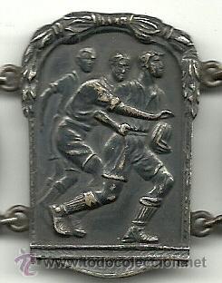 Coleccionismo deportivo: (F-93)BRAZALETE 6 MEDALLAS DE PLATA DE ROSSINI F.C.BARCELONA,RUGBY,BOXEO,LUCHA GRECO ROMANA,ETC. - Foto 8 - 30905005
