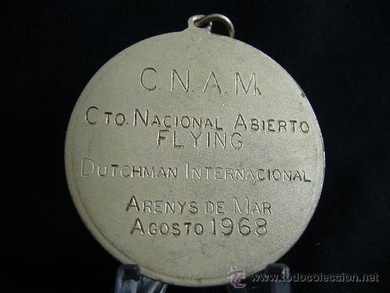 Coleccionismo deportivo: Medalla Campeonato Nacional Fliying. Arenys de Mar. Año 1968. - Foto 2 - 31593767