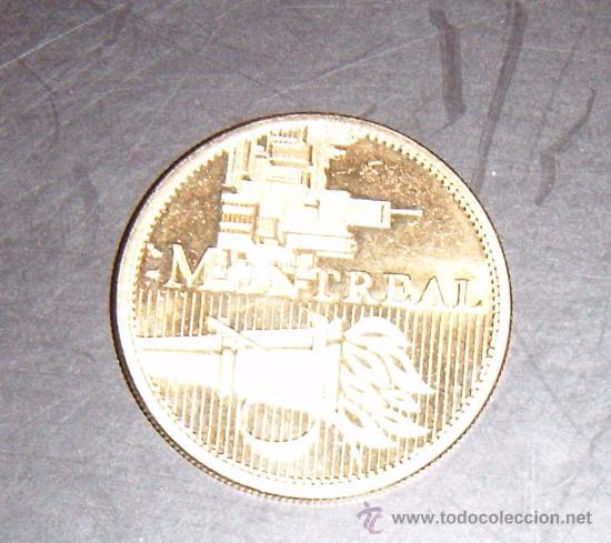 MONEDA CONMEMORATIVA DE LAS OLIMPIADAS DE MONTREAL (Coleccionismo Deportivo - Medallas, Monedas y Trofeos - Otros deportes)