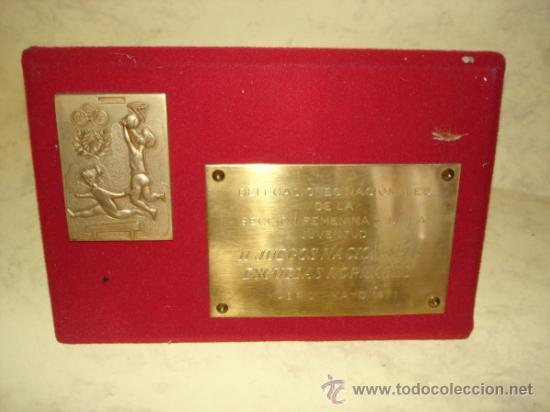 DELEGACIONES NACIONALES DE LA SECCION FEMENINA Y DE LA JUVENTUD - II JUEGOS NACIONALES - MAYO 1971 (Coleccionismo Deportivo - Medallas, Monedas y Trofeos - Otros deportes)