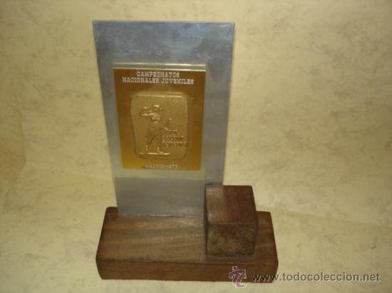 CAMPEONATOS NACIONALES JUVENILES - D.N. SECCION FEMENINA - MADRID1973 (Coleccionismo Deportivo - Medallas, Monedas y Trofeos - Otros deportes)