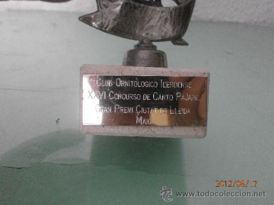 Coleccionismo deportivo: COPA TROFEO ORNITOLOGICO - Foto 2 - 32877868