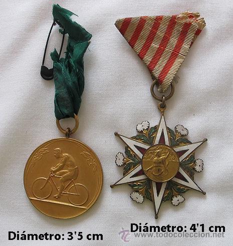 DOS MEDALLAS DE CICLISMO 1920 (Coleccionismo Deportivo - Medallas, Monedas y Trofeos - Otros deportes)
