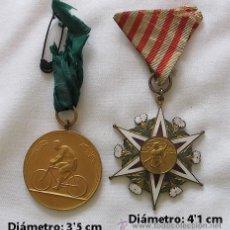 Coleccionismo deportivo: DOS MEDALLAS DE CICLISMO 1920. Lote 33375606