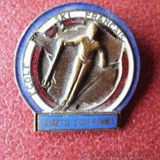 Coleccionismo deportivo: INSIGNIA DE ALFILER DE LA ESCUELA FRANCESA DE ESQUI. AÑOS 50-60. ENVIO GRATIS¡¡¡. Lote 33443584