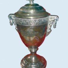 Coleccionismo deportivo: COPA DEPORTIVA PLATEADA,GRABADA -TIRO AL PLATO, I PREMIO SALAMANCA 22-IX-46-. Lote 33609598