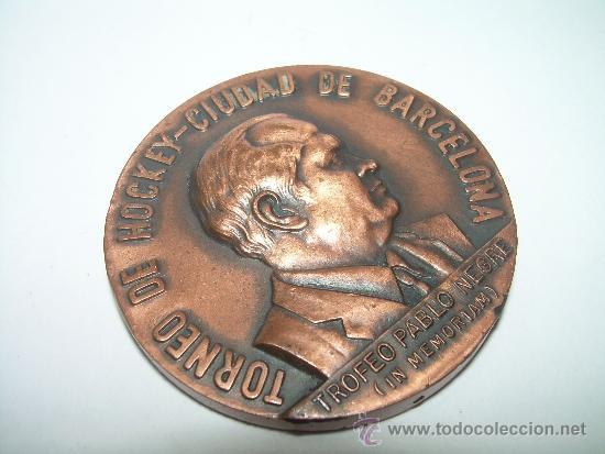MEDALLA IN MEMORIAM PABLO NEGRE...HOCKEY CIUDAD DE BARCELONA..1981. (Coleccionismo Deportivo - Medallas, Monedas y Trofeos - Otros deportes)