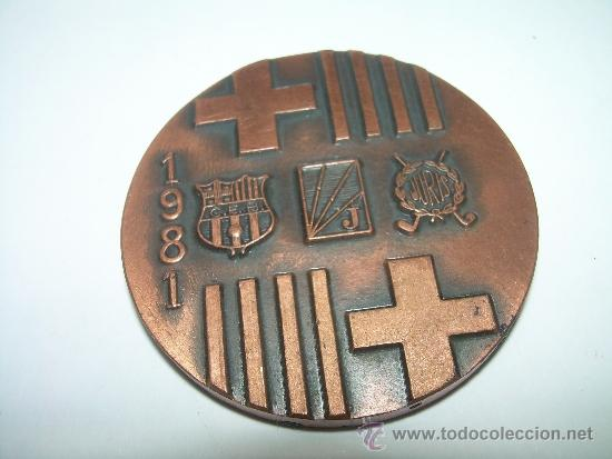 Coleccionismo deportivo: MEDALLA IN MEMORIAM PABLO NEGRE...HOCKEY CIUDAD DE BARCELONA..1981. - Foto 4 - 34248956