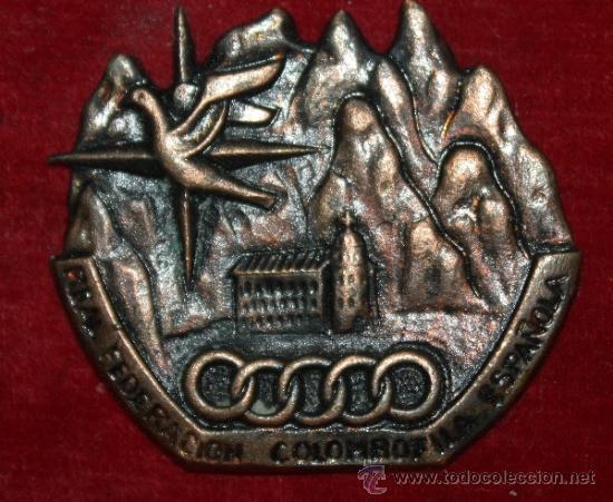 MEDALLON DE LA GRAN FEDERACION COLOMBOFILICA DE ESPAÑAEPOCA DE FRANCO DE FRANCO 1972 EXPO DE PALOMAS (Coleccionismo Deportivo - Medallas, Monedas y Trofeos - Otros deportes)