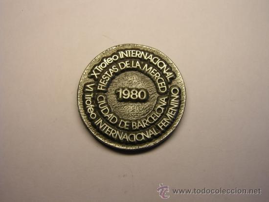 Coleccionismo deportivo: Medalla deportiva trofeo Internacional, Fiestas de la Merced. Barcelona, año 1980. - Foto 2 - 35534652