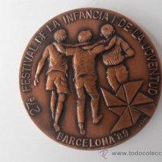Coleccionismo deportivo: MEDALLA DEL 27 FESTIVAL DE LA INFANCIA Y LA JUVENTUD DE BARCELONA 1.989. Lote 36790937