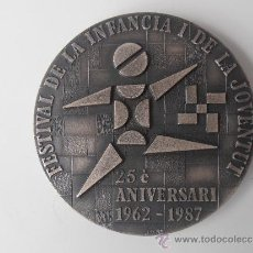 Coleccionismo deportivo: MEDALLA DEL 25 FESTIVAL DE LA INFANCIA Y LA JUVENTUD DE BARCELONA 1.987. Lote 36790965