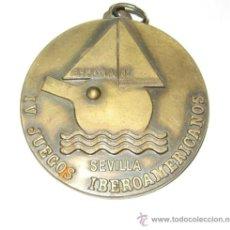 Coleccionismo deportivo: SEVILLA 1987 - MEDALLA IV JUEGOS IBEROAMERICANOS - FEDERACION TENIS DE MESA. Lote 36885573