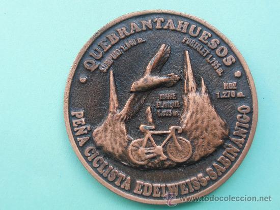 MEDALLA DE CICLISMO PEÑA CICLISTA EDELWISS -SABIÑANIGO (Coleccionismo Deportivo - Medallas, Monedas y Trofeos - Otros deportes)