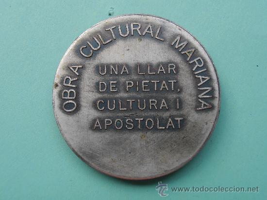 Coleccionismo deportivo: Medalla del concurso Doctrina Catolica i Juegos florales Marianas - Foto 2 - 37563817
