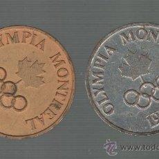 Coleccionismo deportivo: MEDALLAS CONMEMORATIVAS DE LAS OLIMPIADAS DE MONTREAL 1976. Lote 38101023