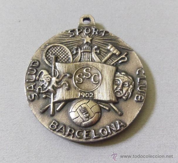 MEDALLA DE 75 ANIVERSARIO DEL CLUB SALUD DE BARCELONA - TENIS FUTBOL- S.S.C. 1902 -1972 (Coleccionismo Deportivo - Medallas, Monedas y Trofeos - Otros deportes)