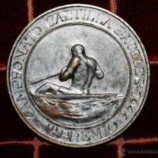 Coleccionismo deportivo: ANTIGU MEDALLA DE CAMPEONATO DE CASTILLA DE BATELES 1º PREMIO DE FALANGE ,GALANJE 1944. Lote 41022141