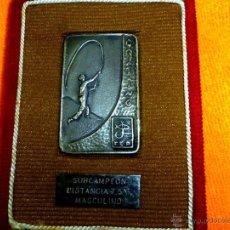 Coleccionismo deportivo: INTERESANTE MEDALLA DE PESCA SUBCAMPEON DISTANCIA 7,5 G MASCULINO FEDERACION ESPAÑOLA PESCA 1976. Lote 41286503