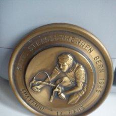 Coleccionismo deportivo: MEDALLA DE CICLISMO PARA COLECCIONISTA SELLADA 17. RANG 1965.MAD SUIZE GENEVE. Lote 41855377