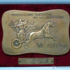 Coleccionismo deportivo: METOPA PLACA CONMEMORATIVA DELEGACIÓN NACIONAL DE JUVENTUD AÑO OLÍMPICO 1972 III JUEGOS. Lote 42773265