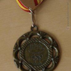 Coleccionismo deportivo: MEDALLA DEPORTIVA. AROS Y ANTORCHA OLIMPICA. 5 CM DIAMETRO. 80 CM CINTA BANDERA ESPAÑA.VER FOTOS.. Lote 42857431