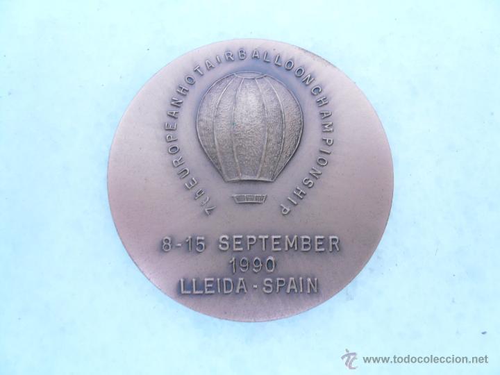 MEDALLA DE BRONCE 7TH EUROPEAN HOT AIR BALLON CHAMPIONSHIP (Coleccionismo Deportivo - Medallas, Monedas y Trofeos - Otros deportes)