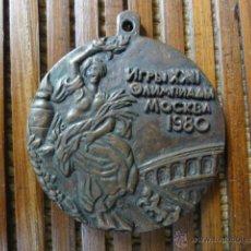 Coleccionismo deportivo: MEDALLA CONM OLIMPIADA MOSCU 1980. Lote 43537621