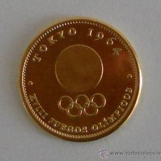 Coleccionismo deportivo: MONEDA CURRENCY CONMEMORATIVA JUEGOS OLIMPICOS TOKYO 1964 OLYMPIC GAMES VINTAGE.. Lote 43917546