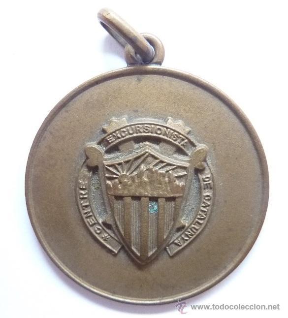 MEDALLA: CENTRE EXCURSIONISTA DE CATALUNYA - CENTRO EXCURSIONISTA DE CATALUÑA - CEC (Coleccionismo Deportivo - Medallas, Monedas y Trofeos - Otros deportes)