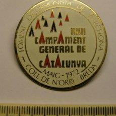 Collectionnisme sportif: EXCURSIONISMO. XII CAMPAMENT GENERAL DE CATALUNYA, COLL DE N'ORRI, BREDA, AÑO 1972. BARCELONA.. Lote 45128460