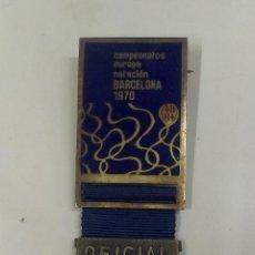 Coleccionismo deportivo: MEDALLA OFICIAL DE LOS CAMPEONATOS DE EUROPA NATACION ( BARCELONA 1970 ). Lote 45186351