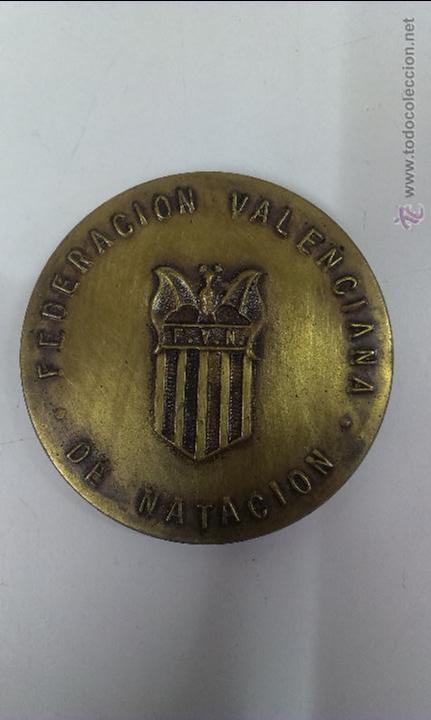 MEDALLA FEDERACION VALENCIANA DE NATACION 58º CAMPEONATOS DE ESPAÑA DE NATACION Y SALTOS (Coleccionismo Deportivo - Medallas, Monedas y Trofeos - Otros deportes)