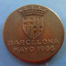 Coleccionismo deportivo: MEDALLA MEDALLÓN DE BRONCE. TORNEO HOCKEY JUEGOS DEPORTIVOS. BARCELONA MAYO 1966. Lote 45456795