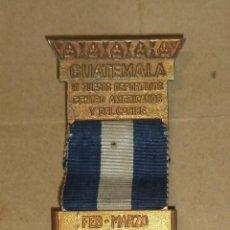Coleccionismo deportivo: MEDALLA. VI JUEGOS DEPORTIVOS CENTRO AMERICANOS Y DEL CARIBE. GUATEMALA. FEB - MARZO 1950. Lote 45460078