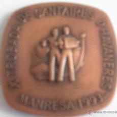 Coleccionismo deportivo: - MEDALLA MEDALLON X TROBADA DE CANTAIRES D^AVANERES MANRESA 1993 , DE BRONCE -. Lote 46231635