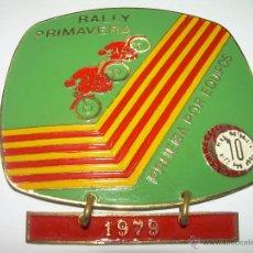 Coleccionismo deportivo: ANTIGUA MEDALLA RALLY PRIMAVERA....1.979....PEÑA 10 X HORA.. Lote 56193913