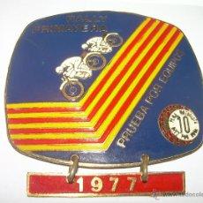 Coleccionismo deportivo: ANTIGUA MEDALLA RALLY PRIMAVERA....1.977....PEÑA 10 X HORA.. Lote 56222038