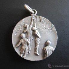 Coleccionismo deportivo: MEDALLA FCB FEDERACIÓN BALONCESTO SUBCAMPEÓN 1944. DIÁMETRO 2.7 CM. Lote 46423991