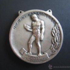 Coleccionismo deportivo: MEDALLA SEU (FALANGE) HOCKEY (SUBCAMPEÓN) II. JUEGOS UNIVERSITARIOS. 1945. DIÁMETRO 4 CM. Lote 46424470