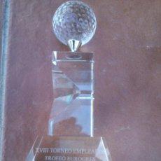 Coleccionismo deportivo: TROFEO GOLF CRISTAL TALLADO Y PULIDO A MANO. Lote 46568754