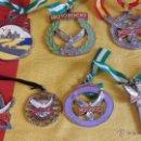 Coleccionismo deportivo: INSIGNIA MEDALLA MEMORIAL MOTOROCIO PEREGRINACIÓN MOTOCICLETA AL ROCIO-ALMONTE HUELVA. Lote 108291080