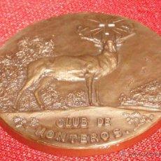 Coleccionismo deportivo: MEDALLA DE BRONCE CAMPEONATO DE TIRO DEL CLUB DE MONTEROS. Lote 47293476