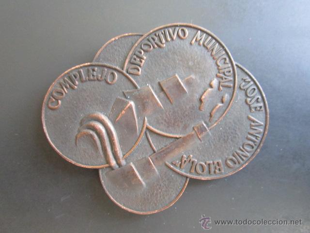 MEDALLA INAUGURACIÓN SANTANDER. OCTUBRE 1969. COMPLEJO DEPORTIVO MUNICIPAL JOSE ANTONIO ELORA. (Coleccionismo Deportivo - Medallas, Monedas y Trofeos - Otros deportes)