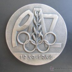 Coleccionismo deportivo: MEDALLA DE PLATA. EL DEPORTE ESPAÑOL EN LOS XXV AÑOS DE PAZ. 1939-1964. DIÁMETRO 50 MM. Lote 48569792