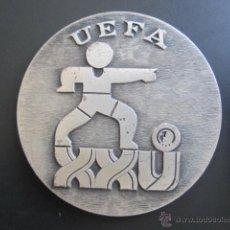 Coleccionismo deportivo: MEDALLA DE PLATA. UEFA. XXV TORNEO INTERNACIONAL DE FUTBOL JUVENIL. 1972. DIÁMETRO 50 MM. Lote 48569820