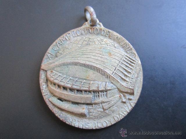 MEDALLA PATINAJE ARTÍSTICO Y DANZA. CAMPEONATO DEL MUNDO. PALACIO DE LOS DEPORTES, MADRID, 1965. (Coleccionismo Deportivo - Medallas, Monedas y Trofeos - Otros deportes)