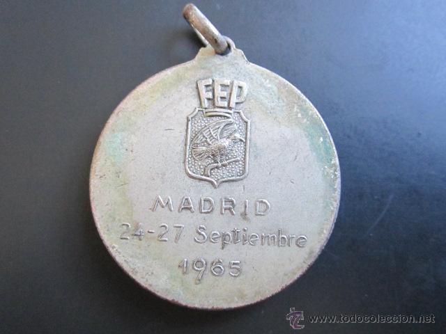 Coleccionismo deportivo: MEDALLA PATINAJE ARTÍSTICO Y DANZA. CAMPEONATO DEL MUNDO. PALACIO DE LOS DEPORTES, MADRID, 1965. - Foto 2 - 48711942