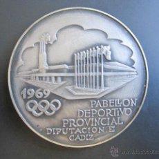Coleccionismo deportivo: MEDALLA DE PLATA. PABELLÓN DEPORTIVO PROVINCIAL DIPUTACIÓN CÁDIZ. 1969. . Lote 48712314