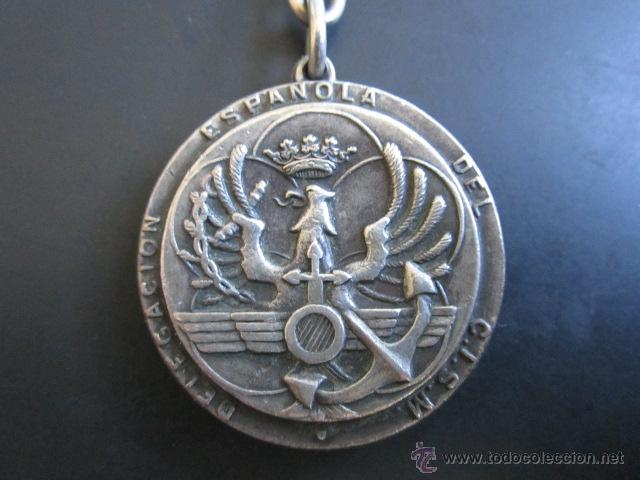 MEDALLA DE PLATA. DELEGACIÓN ESPAÑOLA DEL C.I.S.M. CONSELL INTERNATIONAL DE SPORT MILITARE. (Coleccionismo Deportivo - Medallas, Monedas y Trofeos - Otros deportes)
